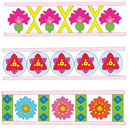 The sample of a flower ornament for design. Stock Vector - 10666140