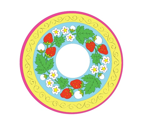 Color pattern with a strawberry and colors Vector