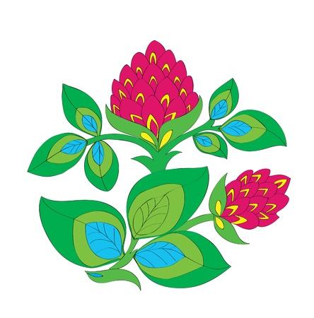 Flower ornament. A beautiful pink flower. Vector