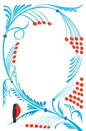 New Year's abstract pattern with a bird. Stock Vector - 10871442