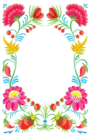 grassy field: Flower ornament. Design of a celebratory card Illustration
