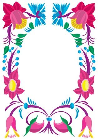 Celebratory card. Design of a flower ornament.