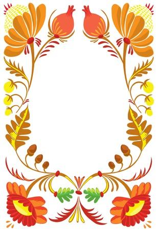 Autumn. A beautiful flower ornament Stock Vector - 10951954