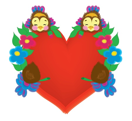 Wedding card in the form of heart. Vector
