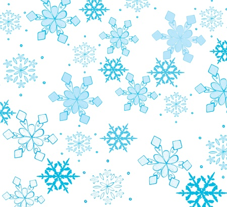 Beautiful snowflakes on a white background. Stock Vector - 11297485