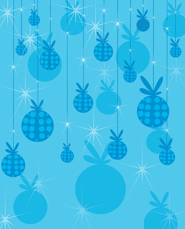 New Years background with toy spheres. Vector