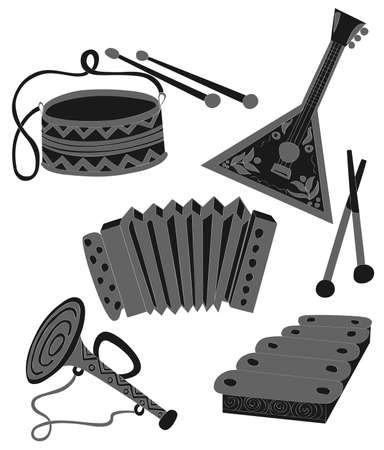Set traditional Russian tools Vector