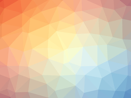 Rainbow orange blue gradient polygon shaped background. Фото со стока