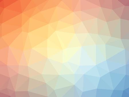 Regenboog oranje blauw gradient veelhoek vorm achtergrond. Stockfoto