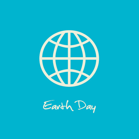 conservancy: Simple Earth Day April 22 graphic with blue background.