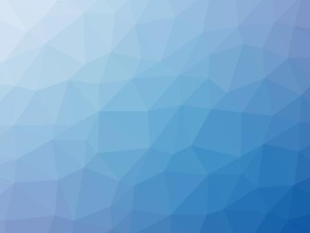 背景の形をした青いグラデーションの多角形。