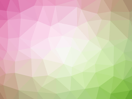 pink and green: Pink green gradient polygon shaped background. Stock Photo