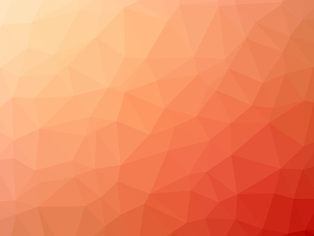 red sunset: Pink red gradient polygon shaped background.
