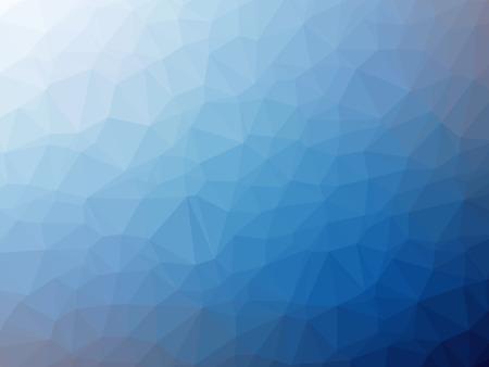 White blue gradient polygon shaped background. Banque d'images