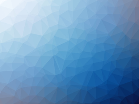 kaleidoscope: White blue gradient polygon shaped background. Stock Photo