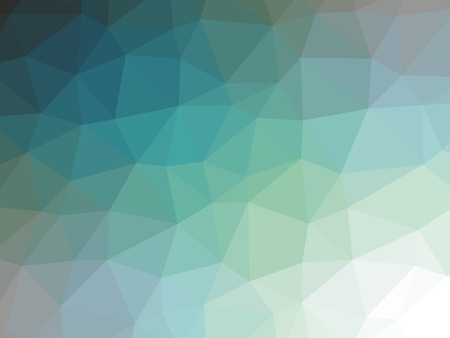Teal blue green gradient polygon shaped background. Banque d'images