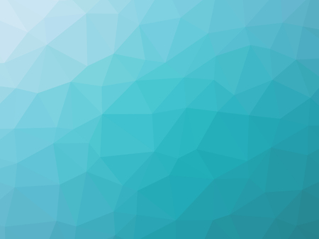 Turquoise gradient polygon shaped background.