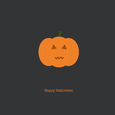 liturgy: Happy Halloween card with a scary pumpkin on a dark grey background.