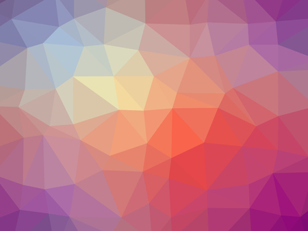 red yellow: Rainbow purple red yellow gradient polygon shaped background.