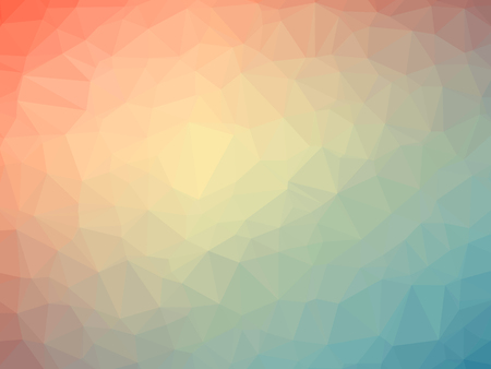blue gradient: Rainbow orange blue gradient polygon shaped background. Stock Photo