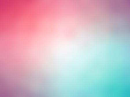 グラデーション レインボー ピンク青緑色の背景をぼかし。