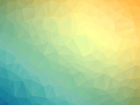 Yellow teal gradient polygon shaped background. 免版税图像
