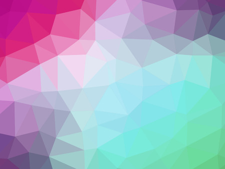 polychromatic: Green pink gradient polygon shaped background.