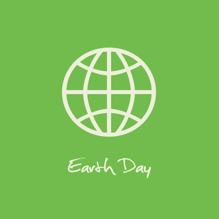 conservancy: Simple Earth Day April 22 graphic with green background.