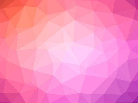 Red purple gradient polygon shaped background. Banque d'images