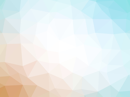 polychromatic: Orange white teal gradient polygon shaped background. Stock Photo