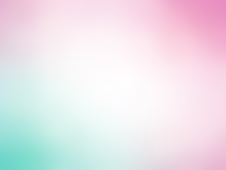 Abstract gradient pink green white colored blurred background.
