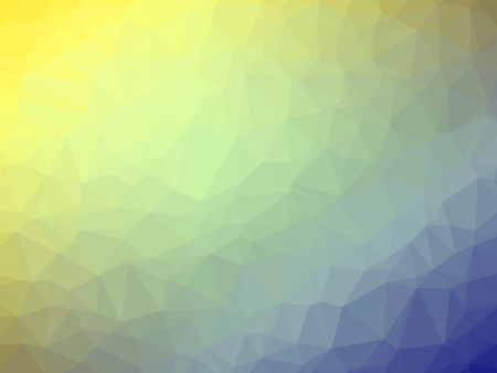 polychromatic: Abstract yellow blue gradient low polygon shaped background.