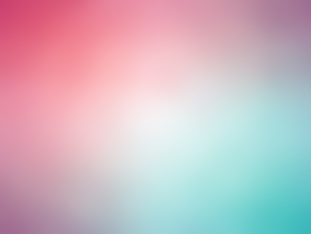 Abstract gradient pink purple green blue colored blurred background.