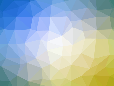 polychromatic: Abstract yellow blue green gradient low polygon shaped background.