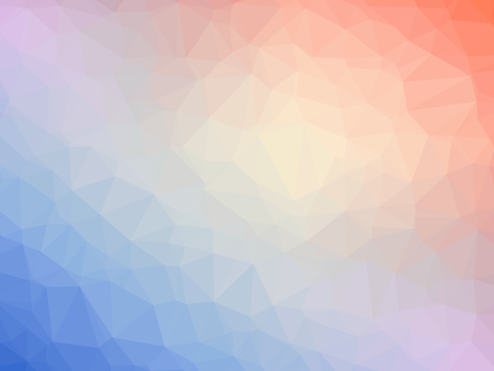 polychromatic: Abstract orange blue purple gradient polygon shaped background.