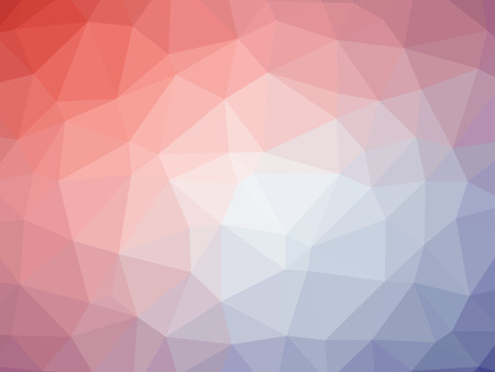 polychromatic: Abstract red blue purple gradient low polygon shaped background.