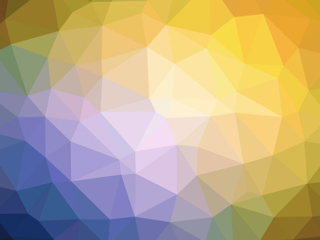 polychromatic: Abstract yellow orange purple blue gradient polygon shaped background.