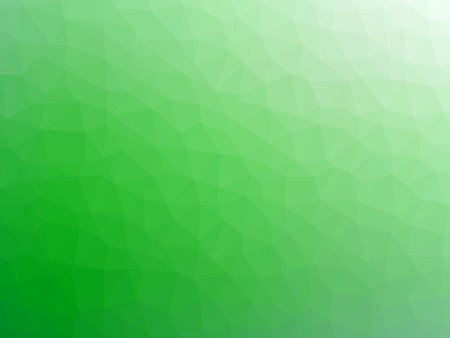 Abstract green white gradient polygon shaped background.