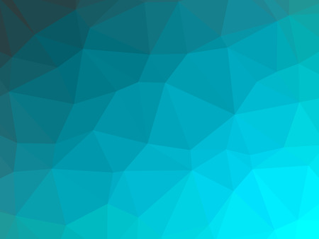 Teal gradient abstract polygon shaped background. Banque d'images