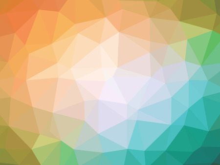 polychromatic: Abstract orange teal gradient polygon shaped background.
