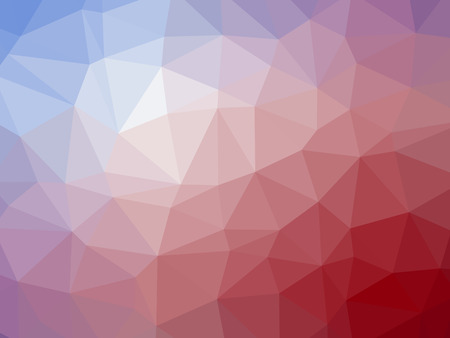 polychromatic: Abstract red blue gradient low polygon shaped background.