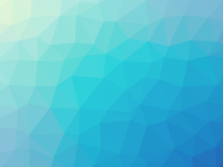blue gradient: Abstract turquoise blue gradient low polygon shaped background.