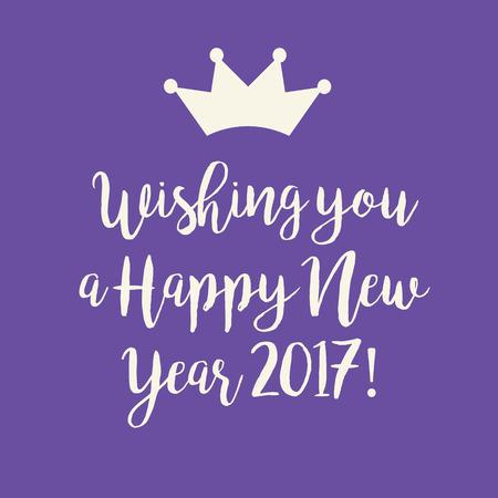 Netter Lila Wir Wünschen Ihnen Einen Guten Rutsch Ins Neue Jahr 2017 ...