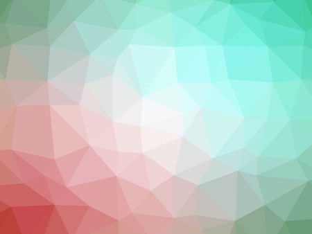 polychromatic: Abstract pink green gradient polygon shaped background.