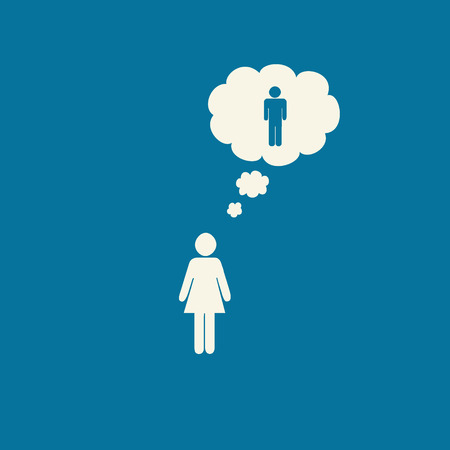 binary: Transgender female to male graphic on blue background. Stock Photo