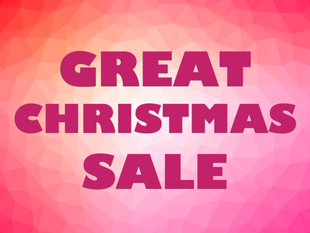 boxing day sale: Great Christmas sale banner with big pink letters on colorful background.