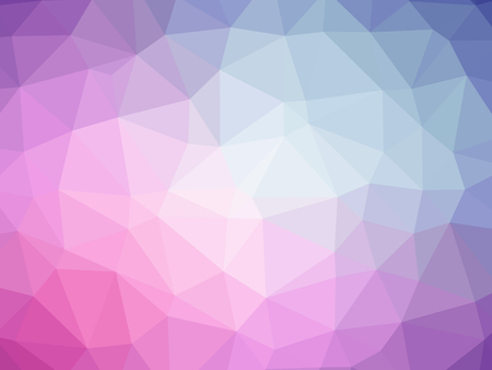 虹の形をしたピンクの青抽象的なグラデーションのポリゴン背景。