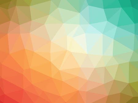 polychromatic: Abstract rainbow orange blue yellow gradient polygon shaped background.