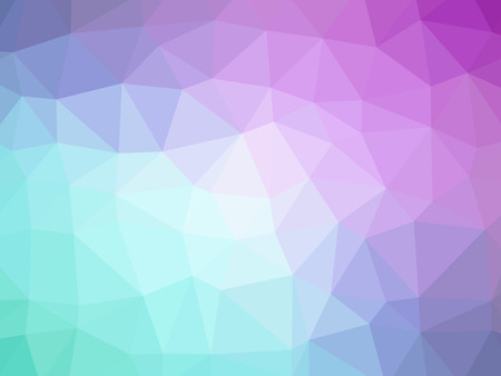 Abstract teal purple pink gradient polygon shaped background