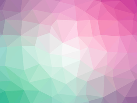 polychromatic: Teal pink purple gradient polygon shaped background. Stock Photo